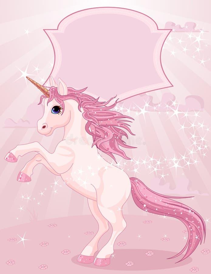 Magic unicorn stock illustration