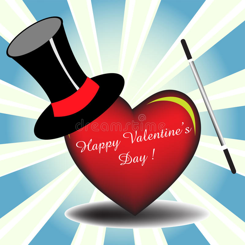 Magic Valentine royalty free stock images