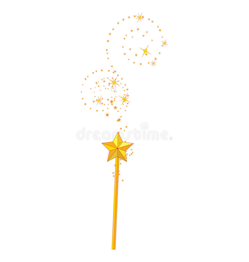 Download Magic wand stock vector. Image of color, fantasy, isolated - 15468416