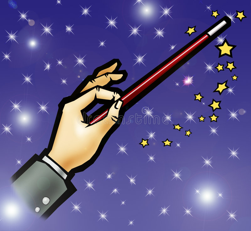 Download Magic wand stock illustration. Image of white, wizard - 4316494