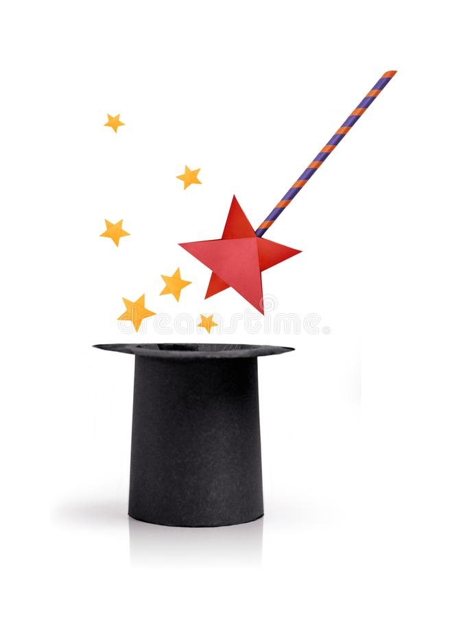 Download Magic Wand And Cylinder Hat Stock Image