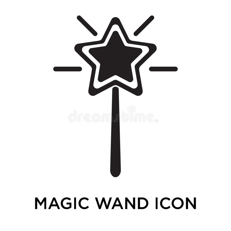 Magic Wand Icon Vector Sign And Symbol Isolated On White Backgro
