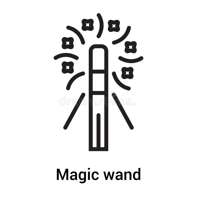 Magic Wand Icon Vector Sign And Symbol Isolated On White Background