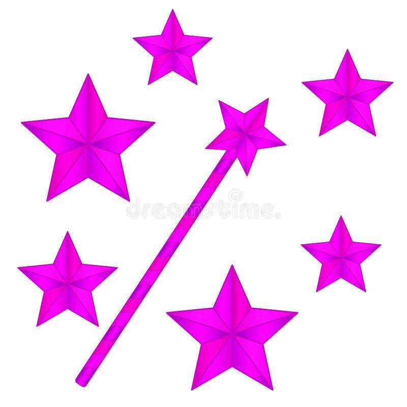 Magic wand illustration stock photos