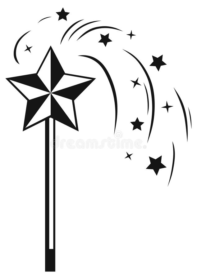 Magic wand stock vector. Illustration of cutout, dreams ...