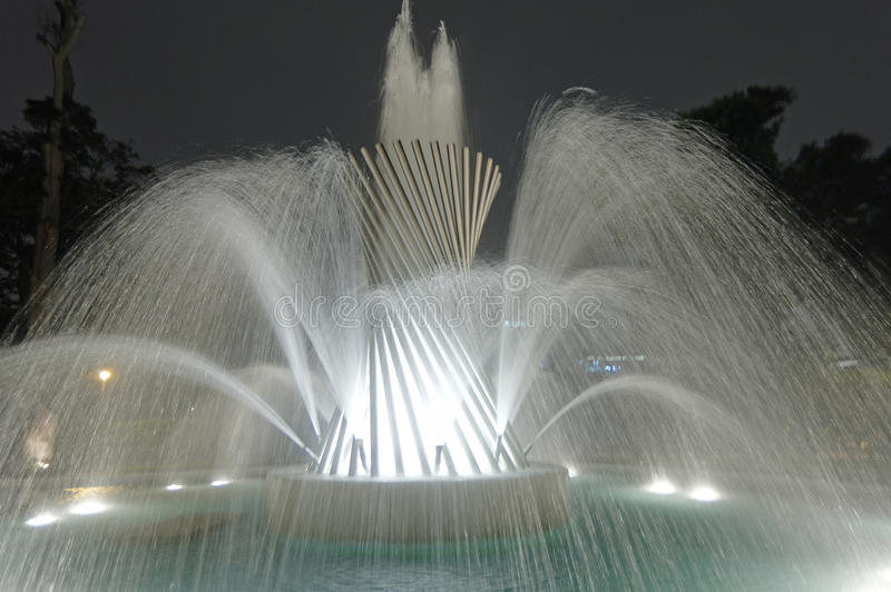 Magic Water Circuit Lima Peru royalty free stock photos