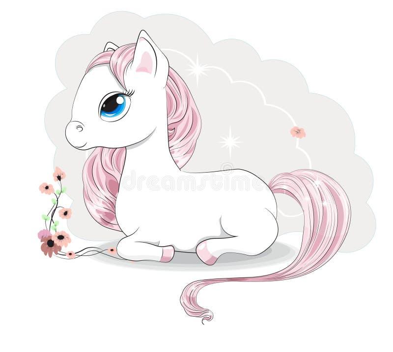 Free Magic White Pony Royalty Free Stock Image - 156395696