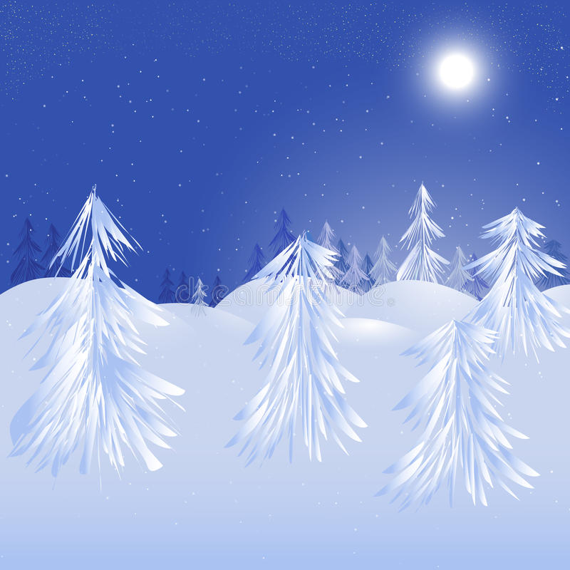 Download Magic winter design stock vector. Illustration of night - 22327935