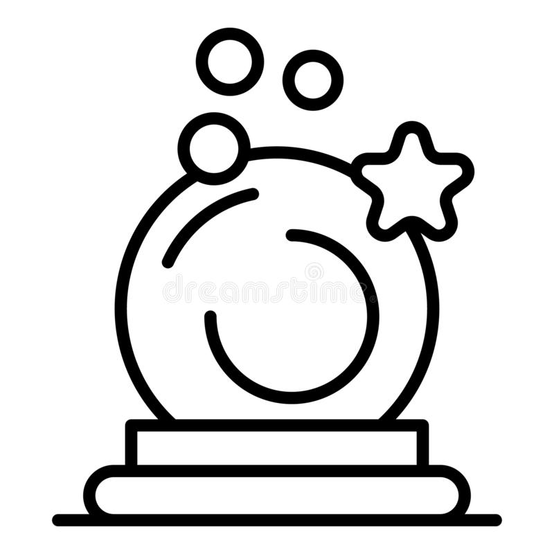 Magic wizard ball icon, outline style vector illustration