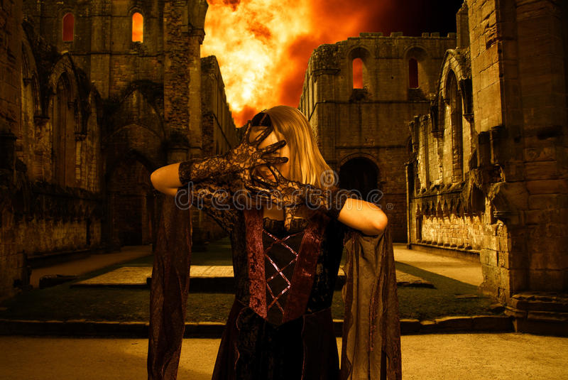 Download Magic woman stock photo. Image of mystical, blond, person - 11583762