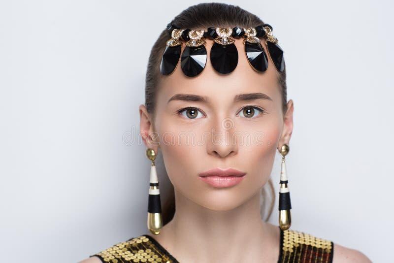 Egypt queen face stock photos
