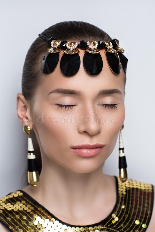 Egypt queen face stock photography