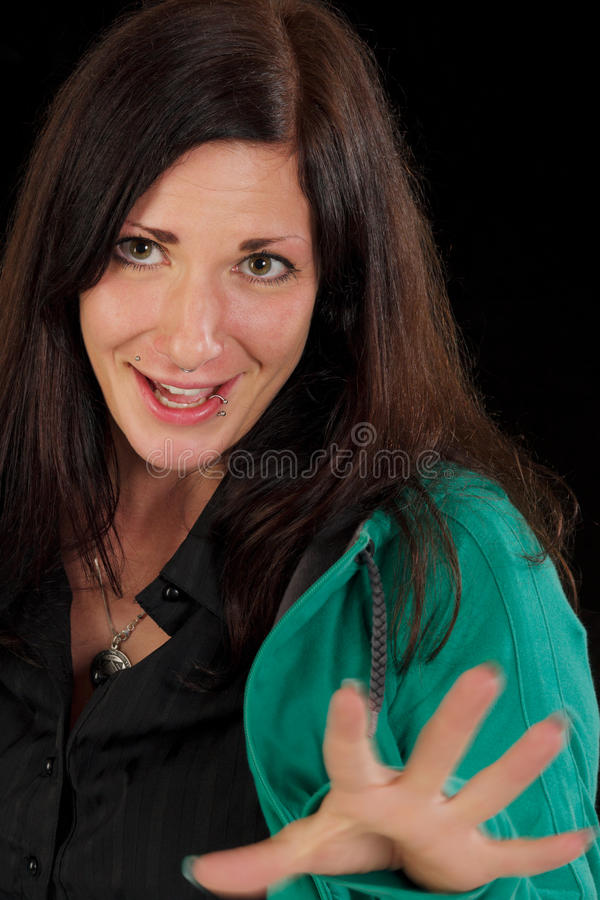 Magic woman with piercing royalty free stock image