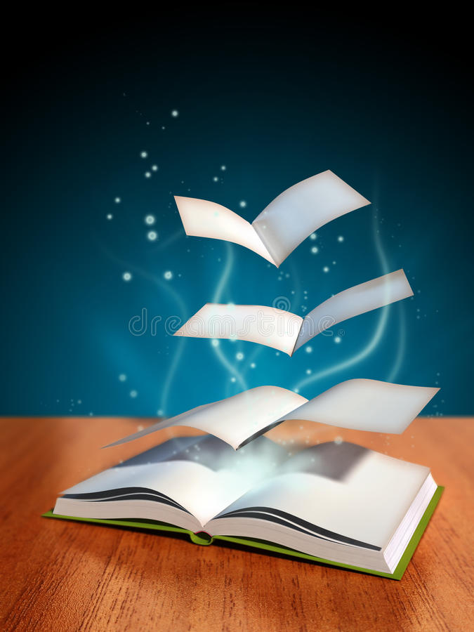 Download Magical book stock illustration. Illustration of mystery - 14617176