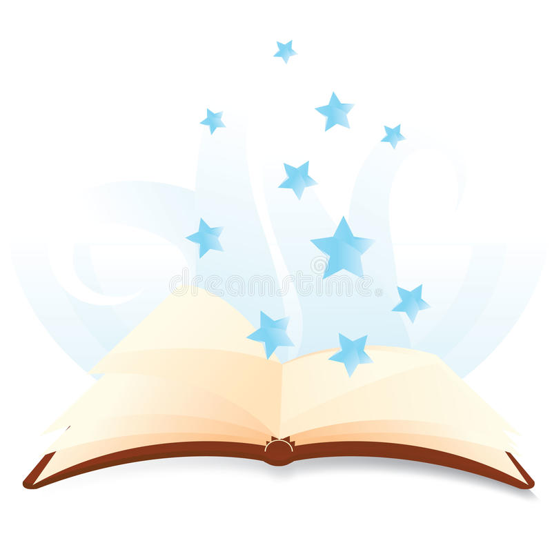 Magical books with stars. To be used as education, children and school designs vector illustration