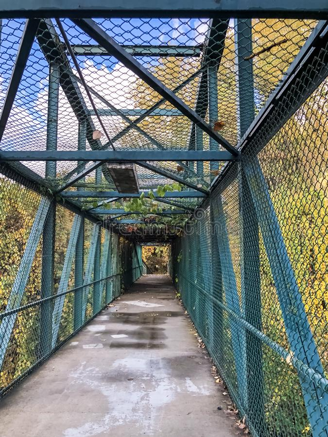 Magical Bridge During the Autumn of 2017. This park is Located off of Highway 99 Between Modesto and Ripon in California in the Fall of 2017 royalty free stock photography