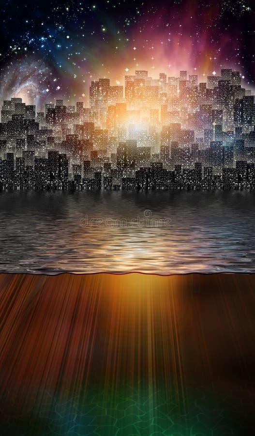 Magical City royalty free illustration