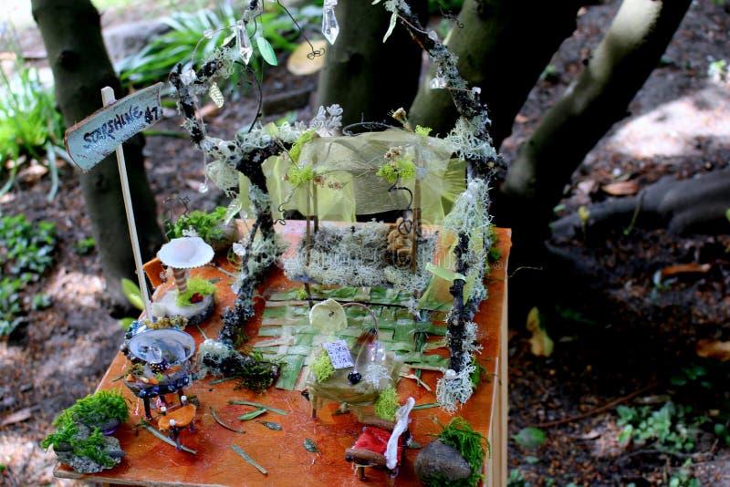 Magical Faerie Crystal Garden stock photo