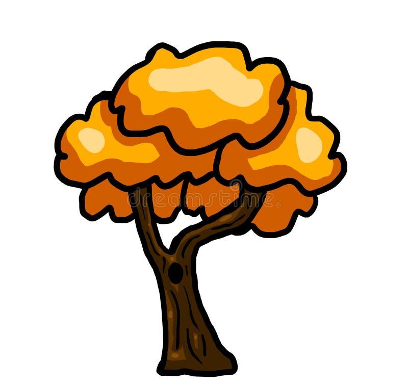 Magical Fantasy Orange Tree royalty free illustration