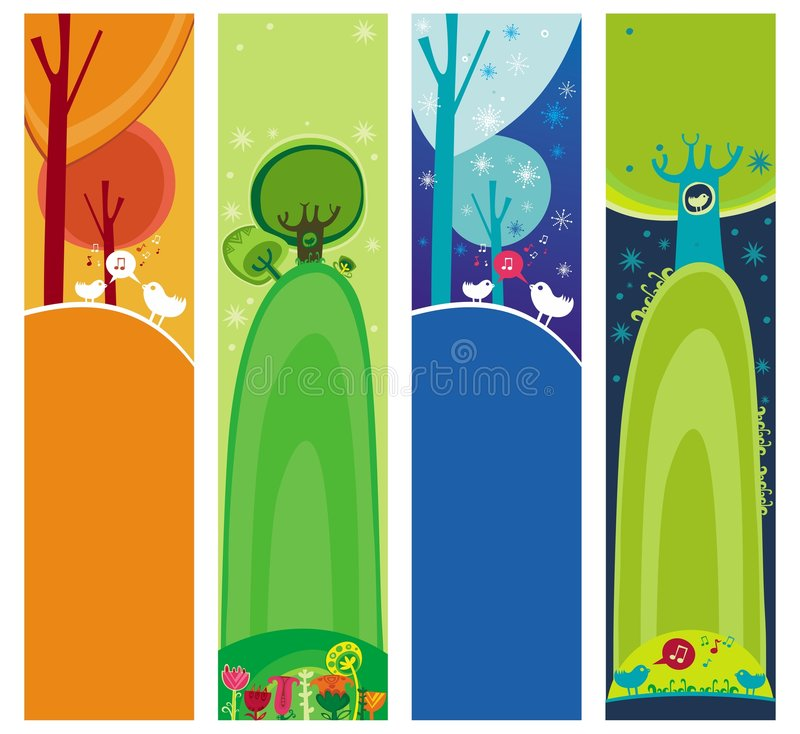 Download Magical forest banners. stock vector. Image of nature - 8386678