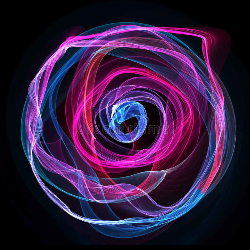 The Magical Form Of Pink Blue Purple Circle. Abstract