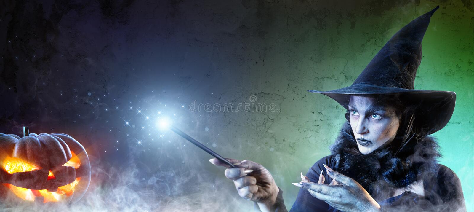 Magical Halloween - Witch Spell stock photos