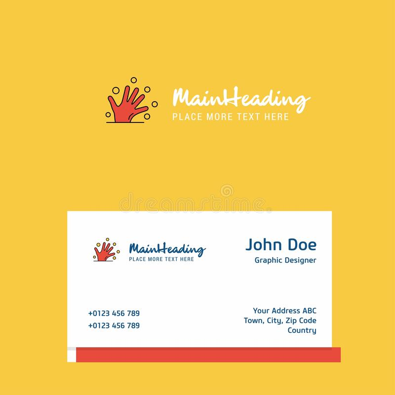 Magical hands logo Design with business card template. Elegant corporate identity. - Vector royalty free illustration