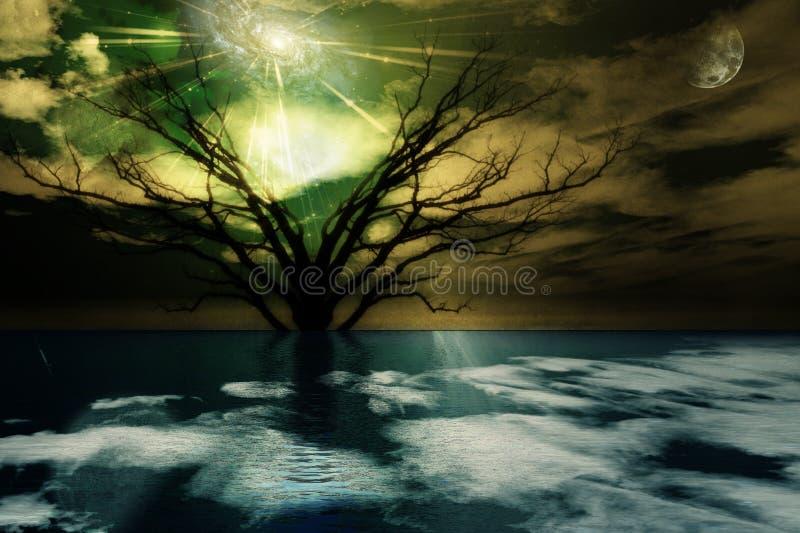 Magical Landscape royalty free illustration