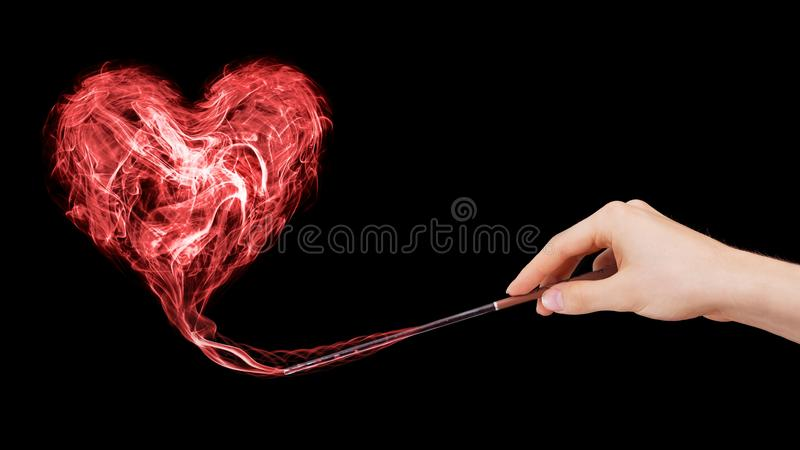 Magical love. Love enchantment created by a wizard royalty free stock photos
