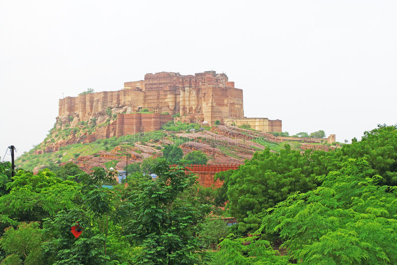 Magical Mehrangarh Fort, Jodhpur, Rajasthan,india stock photography