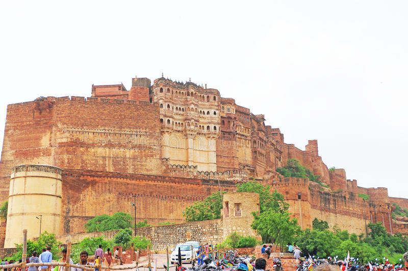 Magical Mehrangarh Fort, Jodhpur, Rajasthan,india royalty free stock photo