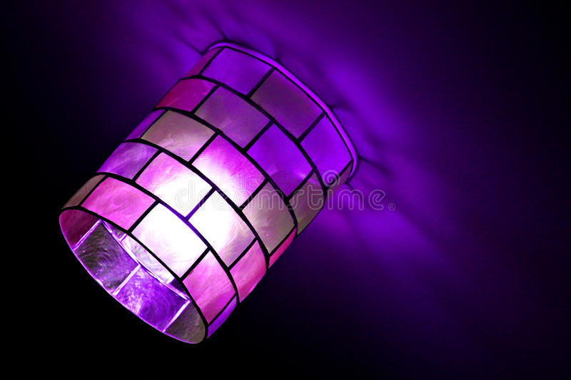 Magical Mosaic Lamp Stock Photo