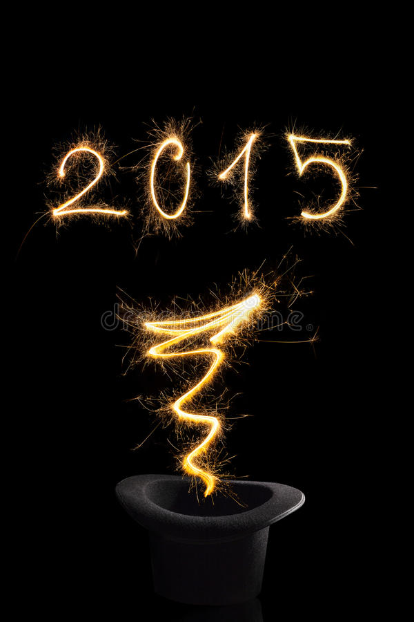 Magical new year 2015. royalty free stock photography