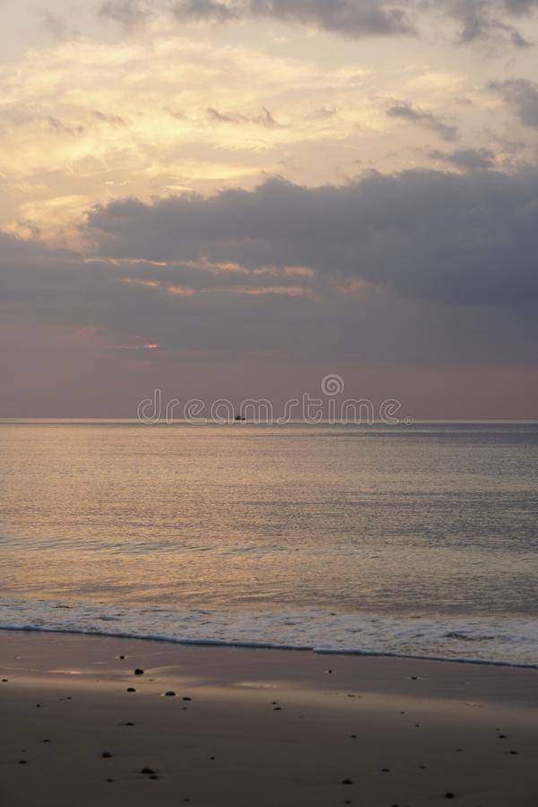 Magical ocean. Sunrise over the Atlantic. Morning. royalty free stock photography