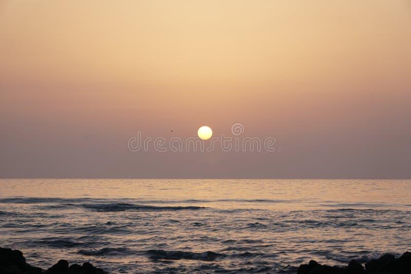 Magical ocean. Sunrise over the Atlantic. Morning. stock image