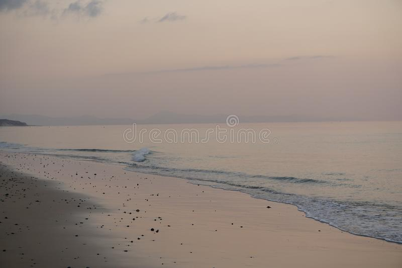 Magical ocean. Sunrise over the Atlantic. Morning. royalty free stock image