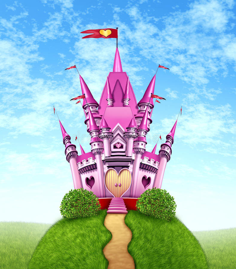 Free Magical Pink Castle Stock Photo - 24326790