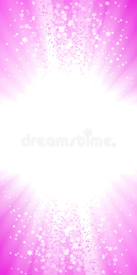 Magical pink stars explosion royalty free illustration