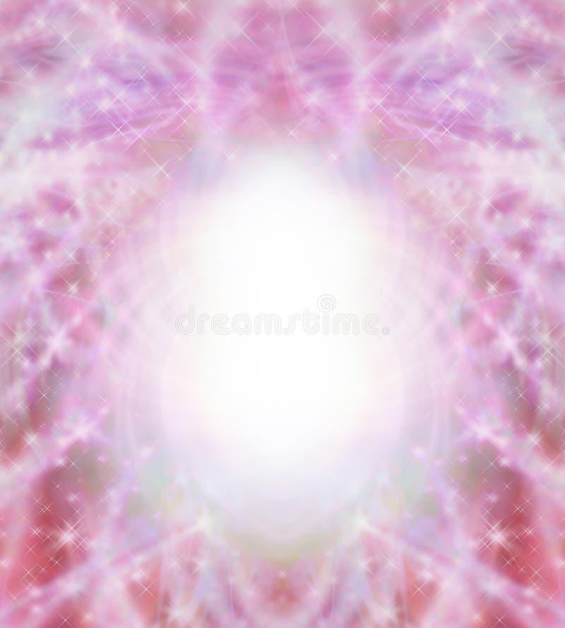 Magical Red Sparkling Symmetrical Frame vector illustration