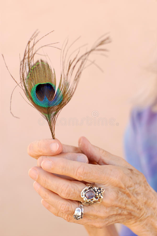 Free Magical Senior Woman Hands Stock Images - 18619364