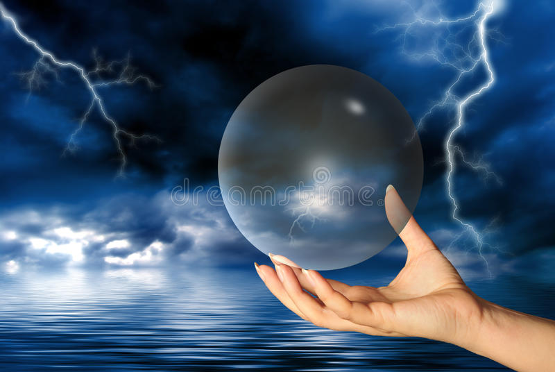Download Magical sphere stock photo. Image of magical, hand, esoteric - 13768744
