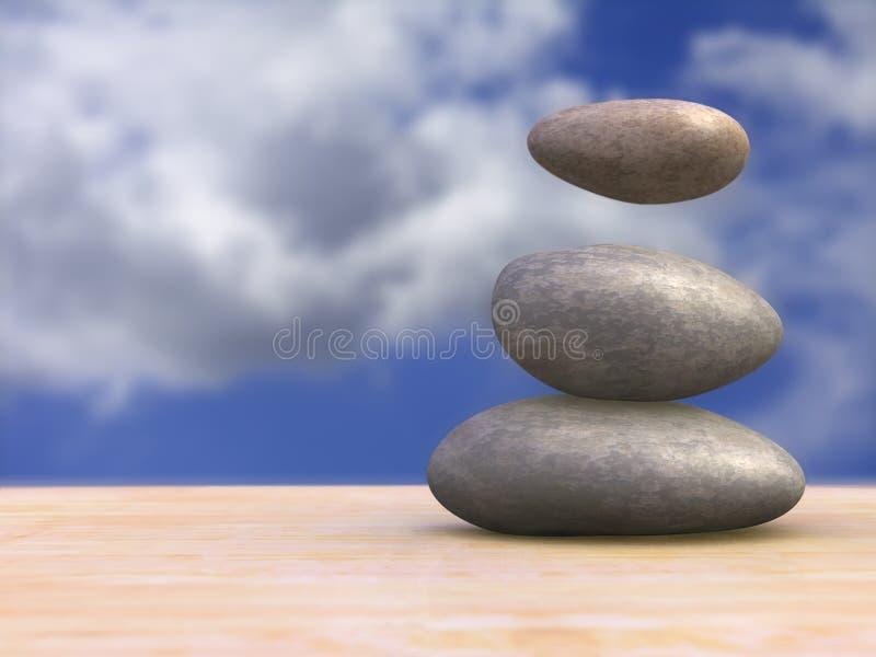 Magical stones stock illustration