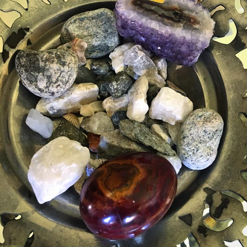 Magical stones stock images