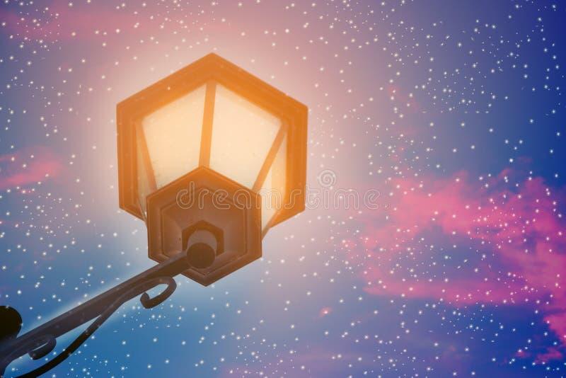 magical street lantern royalty free stock images