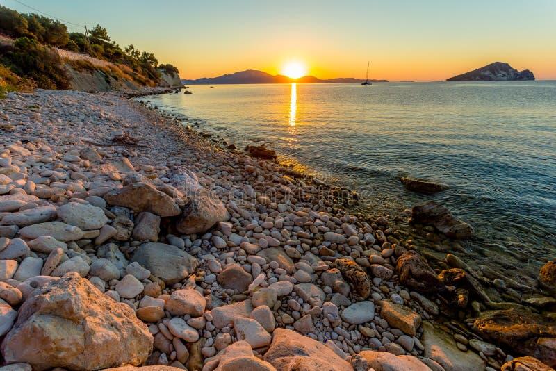Magical Sunrise on Zakynthos royalty free stock image