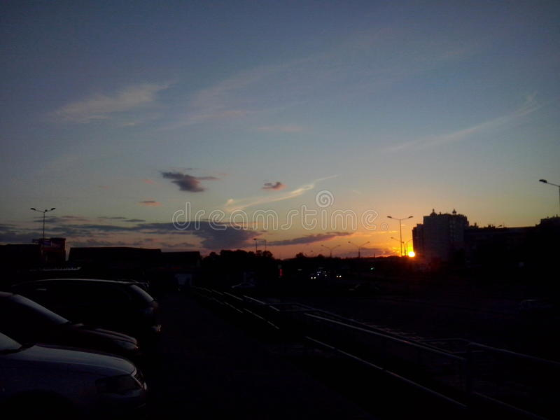 Magical sunset stock image