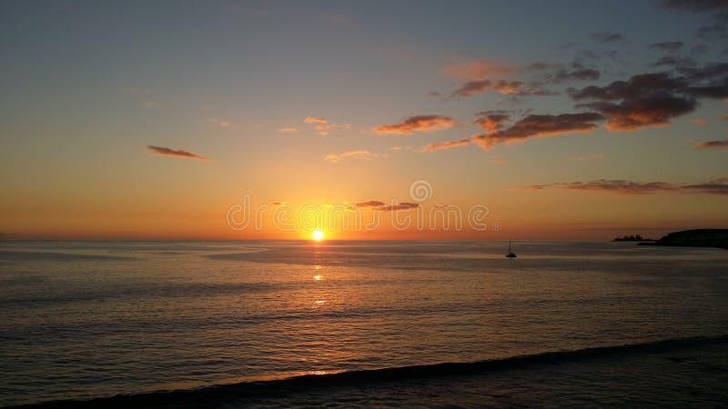 Magical sunset stock photos