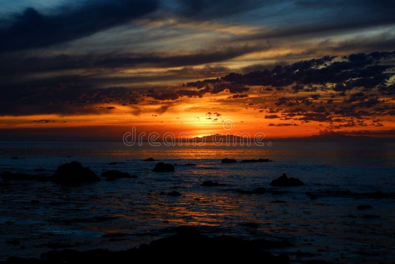 Magical Sunset, Cape Palliser, New Zealand royalty free stock photography