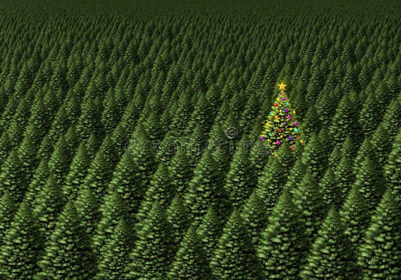 magical tree för jul stock illustrationer