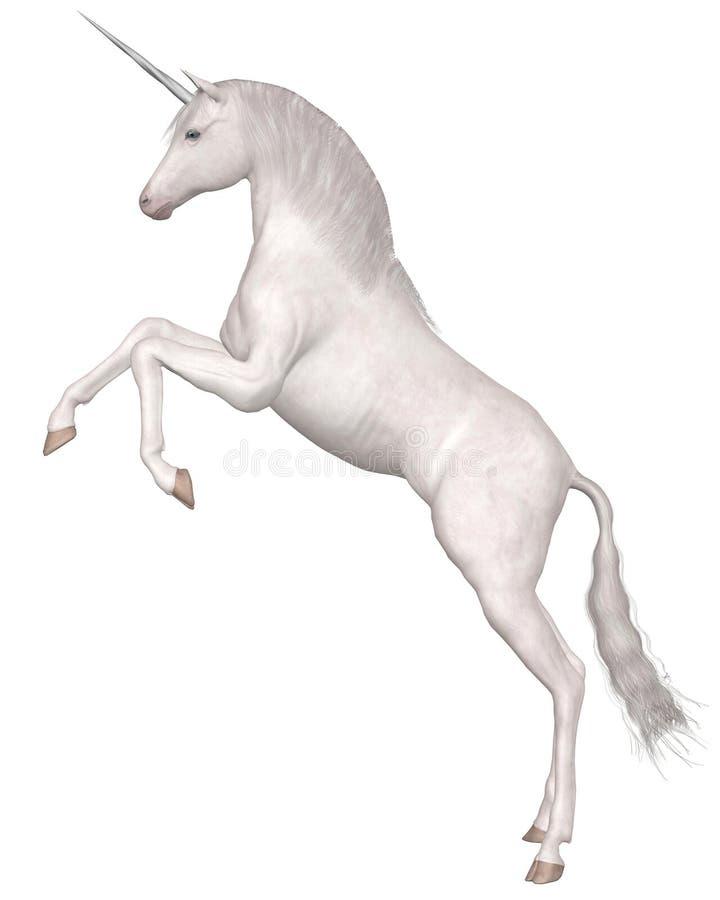 Magical Unicorn - rearing stock illustration